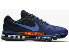 Nike Air Max 2017 Chaussures Nike Running Pas Cher Pour Homme Noir / Bleu 849559-401