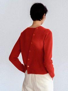Cordelia Button Knitwear Red