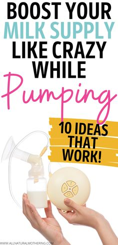 Boost Your Milk Supply Like CRAZY While Pumping - 10 Ideas That Work! How to increase breast milk supply naturally. Weaning Breastfeeding, Breastfeeding And Bottle Feeding, Boost Milk Supply, Increase Milk Supply, How To Increase Breastmilk, Pumping At Work, Exclusively Pumping, Baby Pregnancy, Remedies