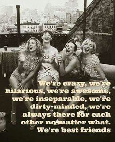 To the best friends in the world Susan and Dawn! We are not perfect but we are best friends! Bff Quotes, Best Friend Quotes, Great Quotes, Funny Quotes, Inspirational Quotes, Soul Sister Quotes, Random Quotes, Funny Memes, Crazy Friends