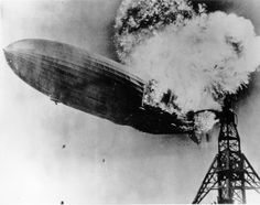 The Hindenburg disaster; UPI, 1937  The stirring image of the Hindenburg zeppelin going down in flames helped galvanize public opinion on the dangers of airships and end their era once and for all.