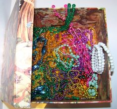 Large box costume jewelry beaded necklaces plastic, party favs, b-day fun colors