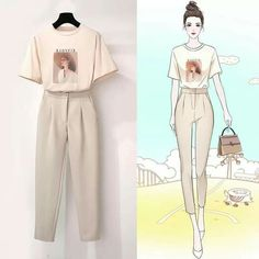 It is a matching outfit from top to bottom and it is very good for summer you can wear it at day and at night also Girls Fashion Clothes, Kpop Fashion Outfits, Korean Outfits, Mode Outfits, Fashion Drawing Dresses, Fashion Illustration Dresses, Fashion Dresses, Korean Street Fashion, Korea Fashion