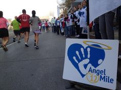 At Mile 12, the Angel Mile, we're honored children no longer with us. It's hard to find the right words ...