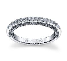 Verragio 18k White Gold Diamond Wedding Band 1/5 cttw