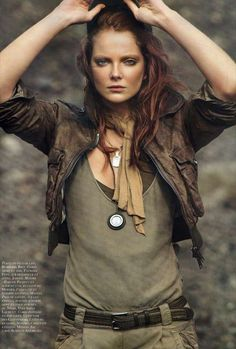 eniko mihalik vogue paris spread | leather style