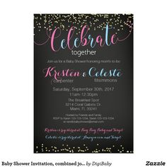Baby Shower Invitation, combined joint friends. Celebrate together baby shower #preggo #pregnancy #jointshower #friends #celebratetogether #babyshower #invitations