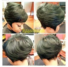 Love the length on this edgy bob! Short Sassy Hair, Short Hair Cuts, Short Hair Styles, Bob Styles, Pixie Styles, Love Hair, Great Hair, Gorgeous Hair, Pretty Hairstyles