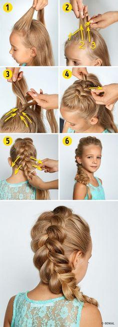 4Peinados que harán que tupequeña luzca como toda una princesa Hair Designs, Hairstyles For Children, Hairstyles For Girls, Cute Hairstyles For School, Girls Hairdos, Princess Hairstyles, College Hairstyles, Cool Hairstyles, 5 Minute Hairstyles