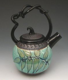 """""""Little Kiss Teapot, Sumac""""  ceramic teapot handcrafted by artist Suzanne Crane. #oneofakind"""