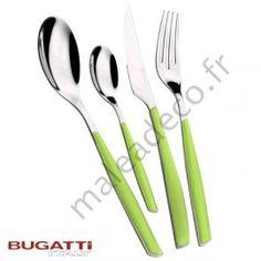 Couverts Bugatti Glamour verts