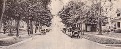 This early postcard shows John Street, Clayton looking toward the river. Snow, River, Street, Islands, Outdoor, Outdoors, Outdoor Games, The Great Outdoors, Walkway