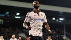 Dembele celebrates his 23rd min goal, that and an admiral performance from keeper Joe Lewis, are the only good things in what was a lack lustre performance from the Whites as we share the points with a Leeds side who put in a good performance, giving their fans,  rightly something to cheer about.