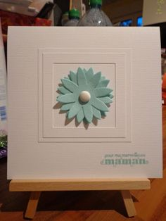 Muriel Duqueroir, a stamper from France, made this lovely card.