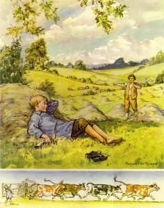 Illustration by Margaret Tarrant by sofi01, via Flickr...little boy blue
