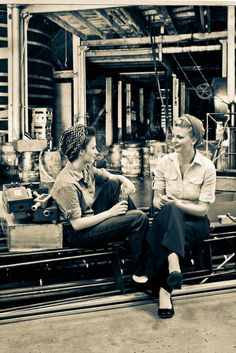 Vintage Photography Project: Female Factory Workers- 1940s blouses and trousers