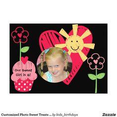 Customized Photo Sweet Treats Birthday Invitation