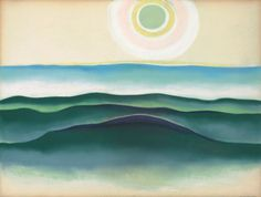 "dappledwithshadow: "" Sun Water Maine, Georgia O'Keeffe 1922 """