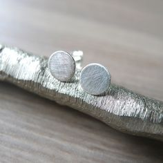 Plain Sterling Silver Studs Modern Studs Simple by SilverMooseArts