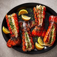 baked-lobster-tails-1244 Lobster Recipes, Seafood Recipes, Cooking Recipes, Shellfish Recipes, Cooking Fish, Healthy Recipes, Baked Lobster Tails, Frozen Lobster Tails, Low Carb Menu Planning