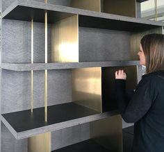 Display unit Shelving Design, Tv Wall Design, Shelf Design, Cabinet Design, Cabinet Shelving, Bookcase Shelves, Luxury Interior, Modern Interior Design, Joinery Details