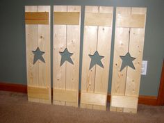 Reserved For Cheryl - Unfinished Diy Primitive Star Window Shutters
