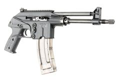 Kel-Tec PLR-16 5.56 NATO   Gas-op semi-auto pistol. Also looks like a ray gun for no extra charge. // $665.00