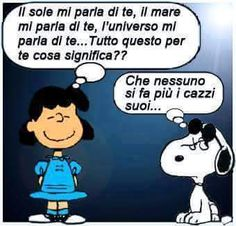 FERMATI.. - Giochiamo con le immagini... Snoopy Charlie, Snoopy Love, Peanuts Snoopy, Charlie Brown, Dont Forget To Smile, Just Smile, Humour Intelligent, Lucy Van Pelt, Italian Memes