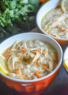 Copy Cat Taziki's Greek Lemon Chicken Soup - 4 Sons 'R' Us - Food - Chicken Recipes Copycat Recipes, Crockpot Recipes, Soup Recipes, Chicken Recipes, Healthy Recipes, Greek Lemon Chicken Soup, Lemon Soup, Healthy Fried Chicken, Cooking