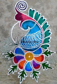 Diwali Rangoli designs for Status - WaStatus Rangoli Designs Peacock, Simple Rangoli Designs Images, Rangoli Designs Latest, Rangoli Border Designs, Colorful Rangoli Designs, Rangoli Patterns, Rangoli Ideas, Beautiful Rangoli Designs, Easy Rangoli Designs Diwali
