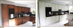 Bury St Edmunds kitchen - before and after painting