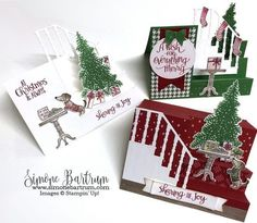 Stampin' Up! Ready for Christmas Staircase #3 - Stair Step Cards