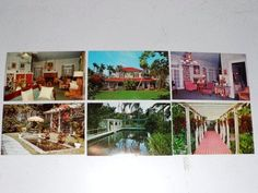 THOMAS A EDISON Postcards- 6 Vintage Post Cards-Edison Winter Home-Fort Myers, Florida- Unposted- New Old Stock-Travel Souvenir by OrphanedTreasure on Etsy