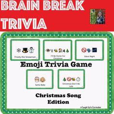 Emoji Trivia Game Christmas Song Edition