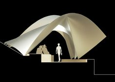 Patkau Architects Beyond One Fold's seamless surface is the inherent spatial potential it offers, says John Patkau. Folding Architecture, Pavilion Architecture, Modern Architecture, Architecture Models, Chinese Architecture, Planer Layout, Architect Magazine, 3d Modelle, Arch Model