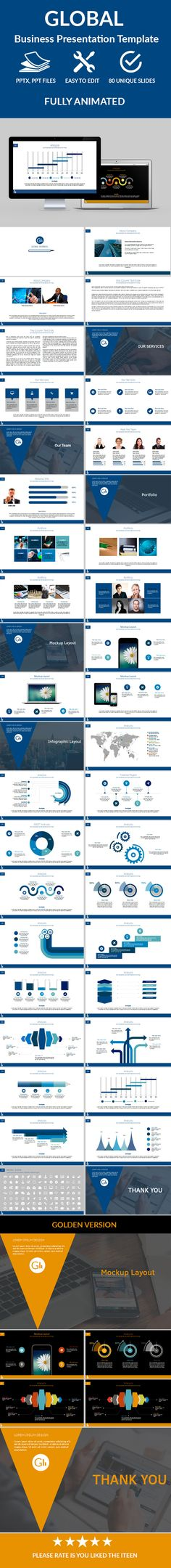 Global Business Powerpoint Presentation Template #design #slides Download: http://graphicriver.net/item/global-business-powerpoint-presentation/12249661?ref=ksioks