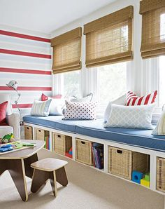 Wonder if I could make these for the play room? Then I could have have storage underneath and a place to sit.