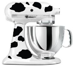 Kitchenaid Mixer Cow Print Sticker Decals - I need this for my mixer