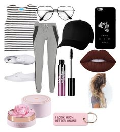 """?is it acceptable to wear sweatpants in summer¿"" by moeburgs17 ❤ liked on Polyvore featuring M.i.h Jeans, Lot78, Vans, Flexfit, Charlotte Russe and Various Projects"