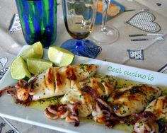 Frugal Food Items - How To Prepare Dinner And Luxuriate In Delightful Meals Without Having Shelling Out A Fortune Calamari Grigliati Al Lime, Ricetta Estiva Fish Recipes, Seafood Recipes, Appetizer Recipes, Healthy Recipes, Grilled Calamari, Grilled Seafood, Fish Dishes, Seafood Dishes, Italian Pasta Recipes