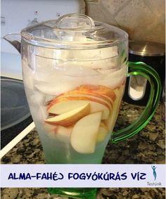 alma fahej fogyokuras viz. Apple Cinnamon Water, Cinnamon Apples, Yummy Drinks, Vitamins, Health Fitness, Meat, Desserts, Food, Tailgate Desserts
