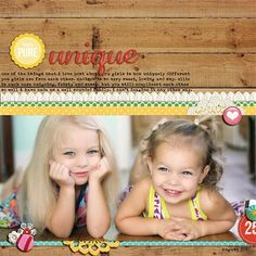 """Unique"" by mrsski07, as seen in the Club CK Idea Galleries. #scrapbook #scrapbooking #creatingkeepsakes"