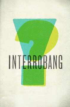 """""""Interrobang""""Ryan Lundy, Mobile, AL ryanlundy.net, @Ryan Sullivan Lundy 11"""" x 17"""" Limited Prints, $25 + $5 shipping (in the US) CLICK HERE TO BUY NOW..."""