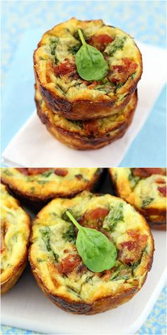Spinach Artichoke Muffin Pan Quiches