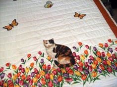 RESERVED for Sally Only - CALICO, Hand-Appliqued Quilt, All Cotton - Free U.S. Shipping