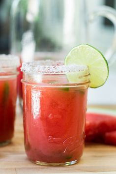 Watermelon Green Chile Margarita from Vijay Nathan for The Boys Club