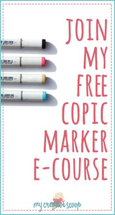 Are you new to Copic Markers? Or maybe you just need a little help with them? Join my FREE 3- Day Copic Marker e-Course for beginners. You will learn •Different ways to apply color to your paper. •Basic light source •List of my favorite color combos (and printable checklist!) •Beginner Copic Guide •Step by step coloring tutorial •Access to my FREE Digi Stamp Library This is a Self paced course -- Join ANYTIME!