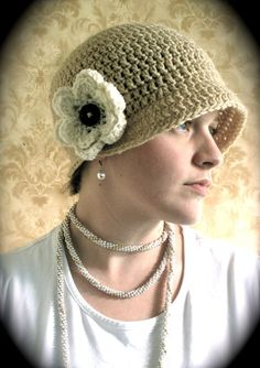Sarahndipities ~ fortunate handmade finds: Crochet Newsboy and Flapper Hat Patterns!