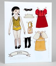 Black Apple Paper Dolls by Emily Winfield Martin Paper Toys, Paper Crafts, Paper Doll House, Paper Dolls Printable, Black Apple, Vintage Paper Dolls, New Dolls, Doll Face, Marie