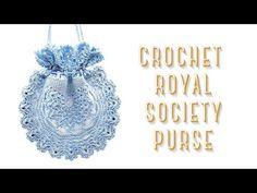 How to crochet Royal Society Purse ⚜ - YouTube Vintage Crochet Patterns, Royal Society, Crochet Videos, Crochet Hooks, Crochet Earrings, Join, Purses, Video Tutorials, Elegant